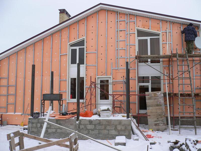 Утеплитель пеноплекс позволяет провести работу даже зимой